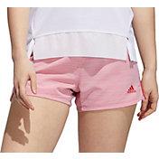 adidas Women's Pacer 3Stripe Heather Woven Shorts