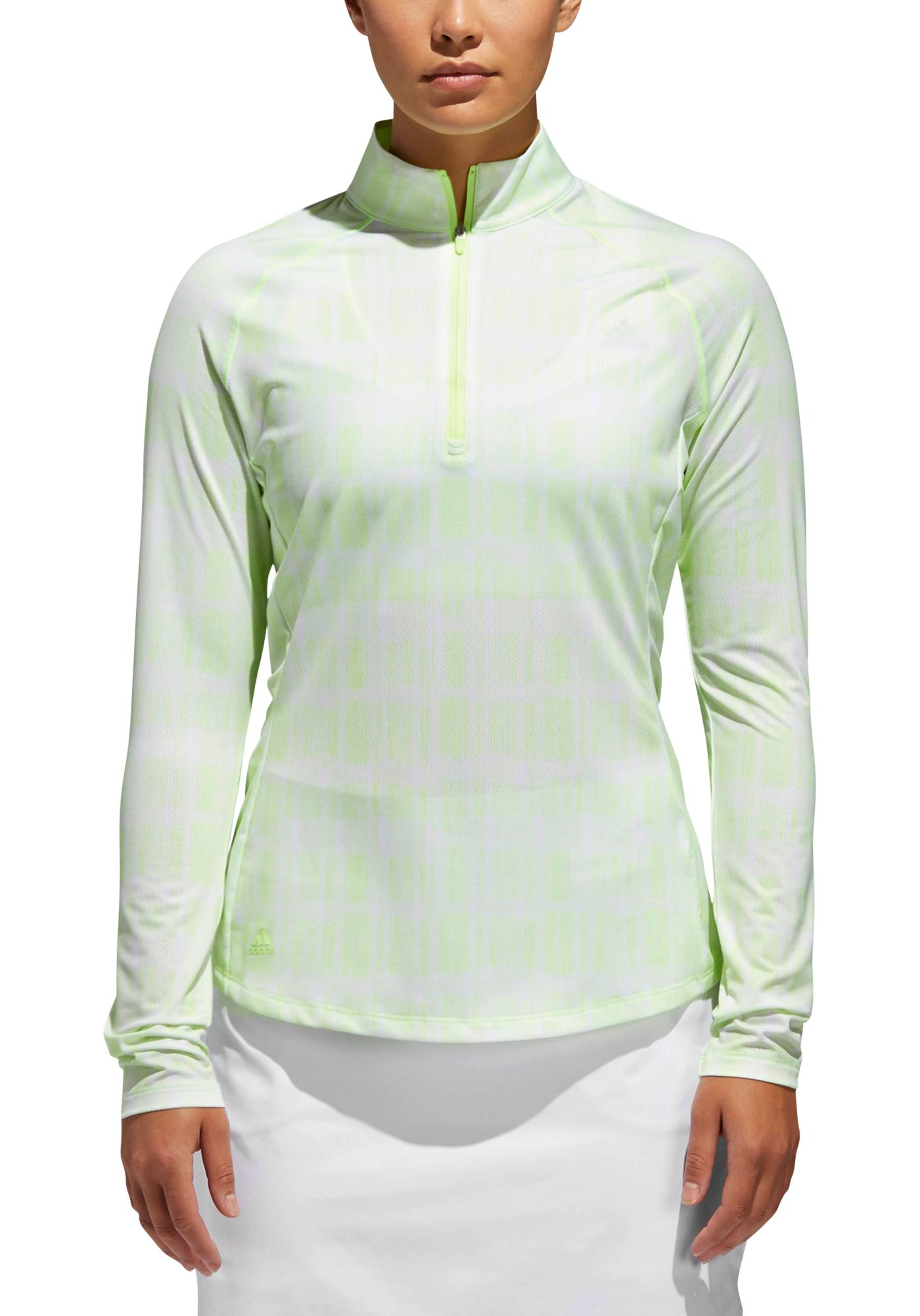 Adidas Women's Ultimate365 Long Sleeve Printed UPF Golf Polo