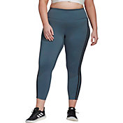 adidas Women's Plus Size Believe This 2.0 3-Stripes 7/8 Tight