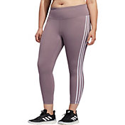 adidas Women's Plus Size Believe This 3 Stripe 7/8 Tight