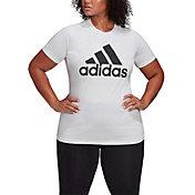 adidas Women's Plus Size Badge of Sport Cotton Tee