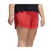adidas Women's Plus Pacer Knit Fashion Shorts