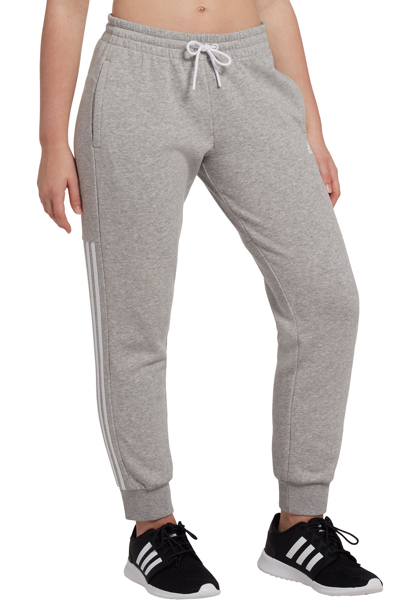 adidas Women's Post Game Solid 3-Stripe Jogger Pants