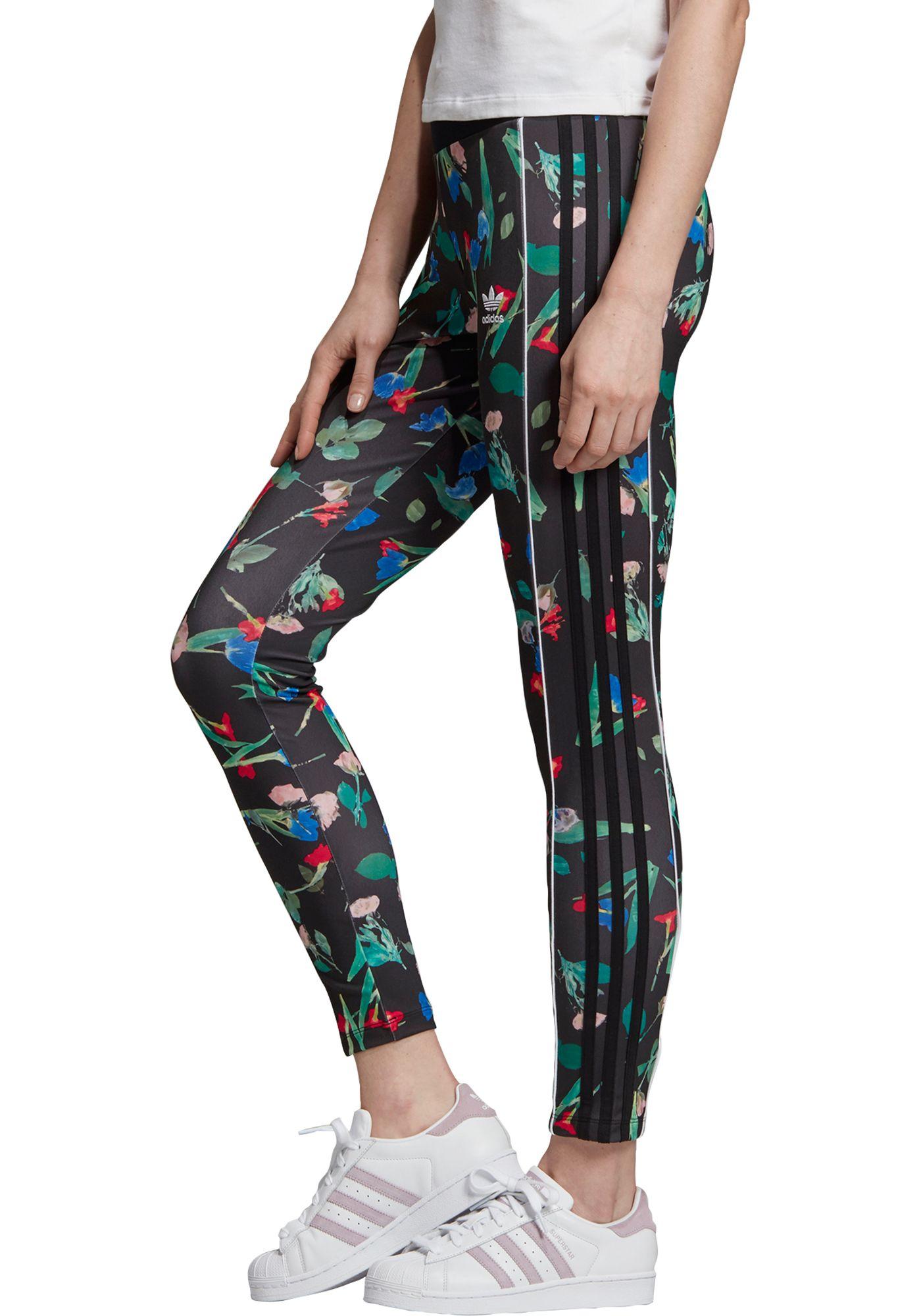 adidas Originals Women's Bellista Floral 3-Stripe Leggings
