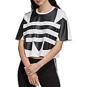 adidas Originals Women's Large Logo Cropped T-Shirt