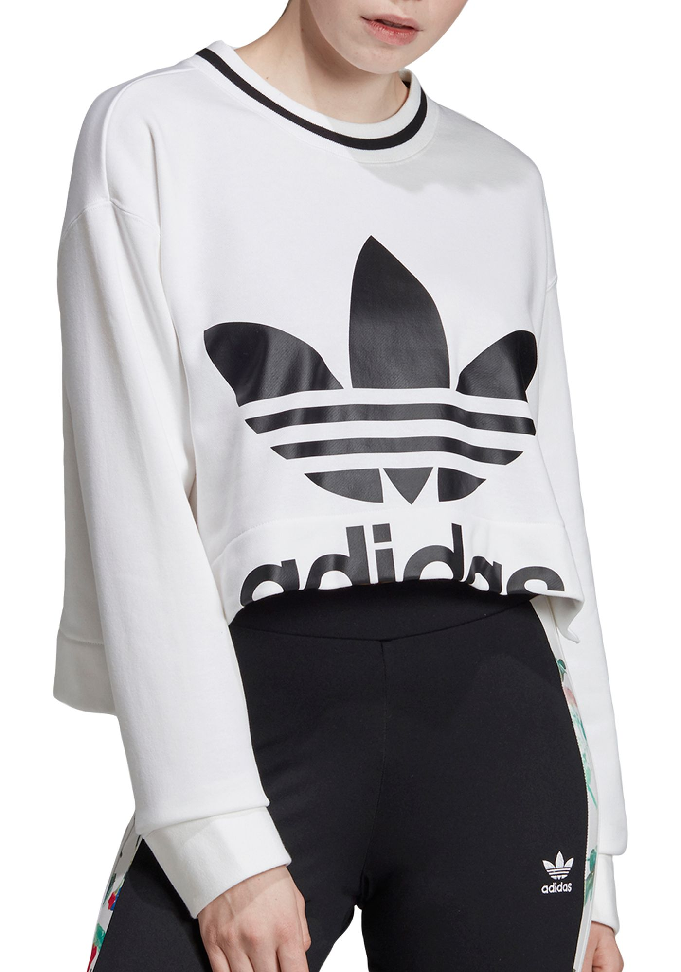 adidas Originals Women's Bellista Cropped Crewneck