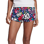 adidas Originals Women's Scribble Print 3-Stripes Shorts