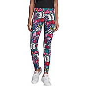 adidas Originals Women's Scribble Print 3-Stripes High-Rise Tights