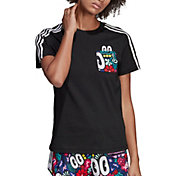 adidas Originals Women's Scribble Print Trefoil T-Shirt