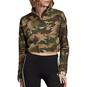 adidas Originals Women's Vocal Camo Crop ½ Zip Pullover
