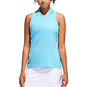 adidas Women's Sport Mesh Sleeveless Golf Polo