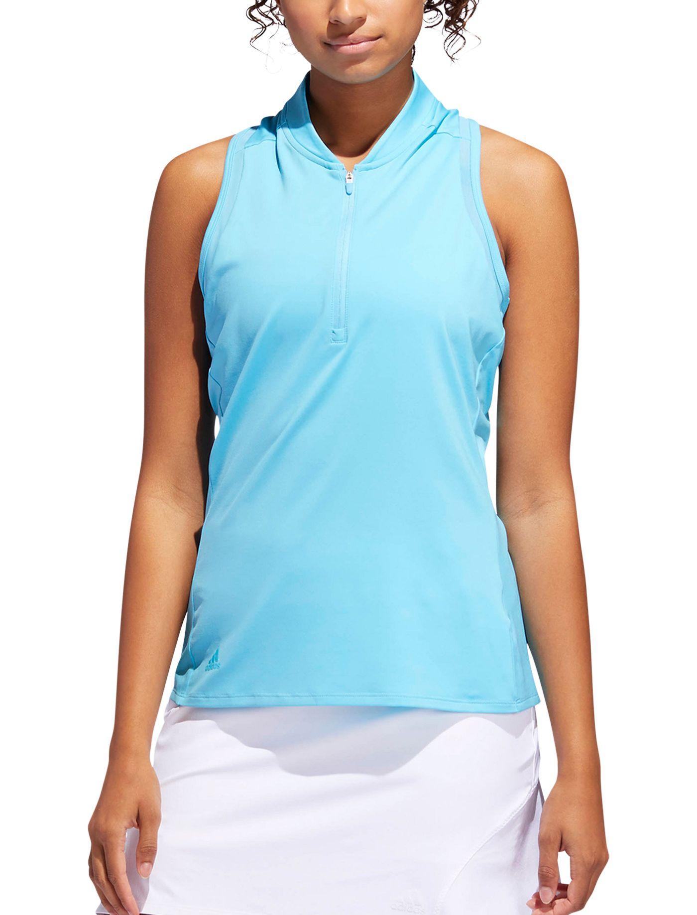 adidas Women's Sport Mesh Sleeveless Golf Polo