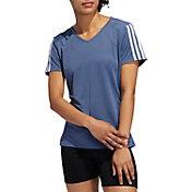 adidas Women's Run It 3-Stripe T-Shirt