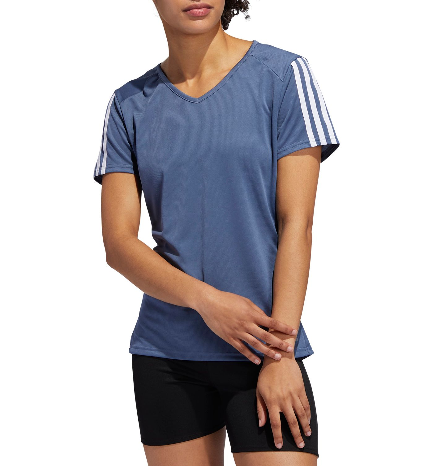 adidas Women's Run It 3-Stripe T-Shirt