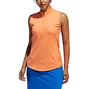 adidas Women's Jacquard Sleeveless Golf Polo