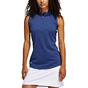 adidas Women's Jacquard Sleeveless Golf Polo