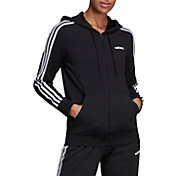 adidas Women's Essentials 3-Stripes Jersey Full Zip Hoodie