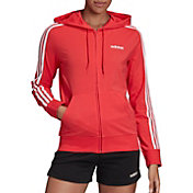 adidas Women's Essentials 3-Stripes Jersey Full Zip Hoodie