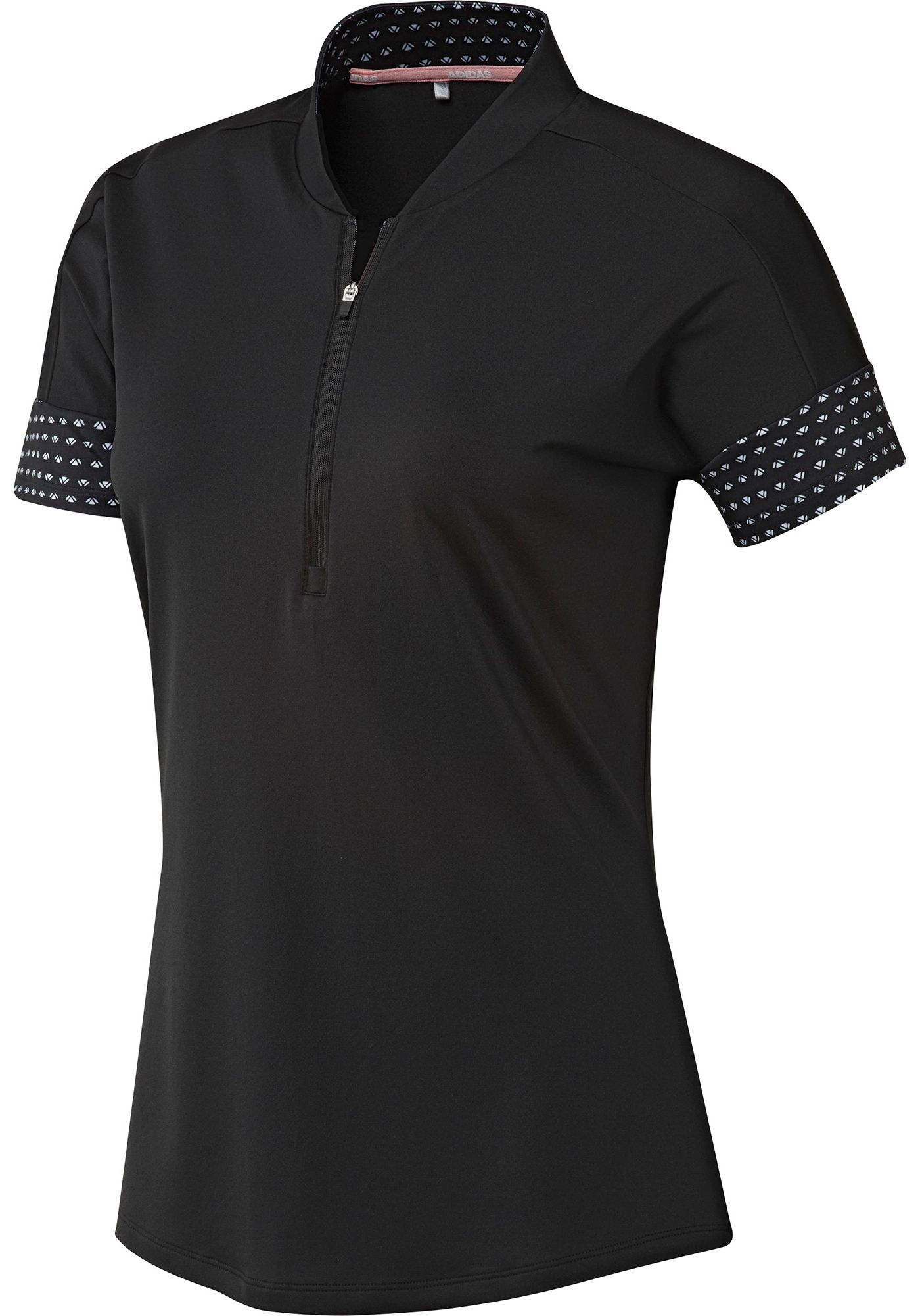 adidas Women's Ultimate365 Printed Short Sleeve Golf Polo