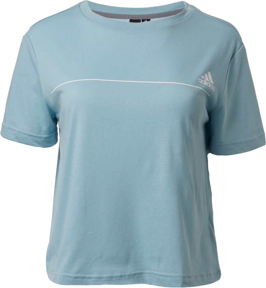 76edf709a2688 adidas Women's Essentials Line Graphic Cropped T-Shirt | DICK'S ...
