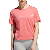 adidas Women's Essentials Line Graphic Cropped T-Shirt