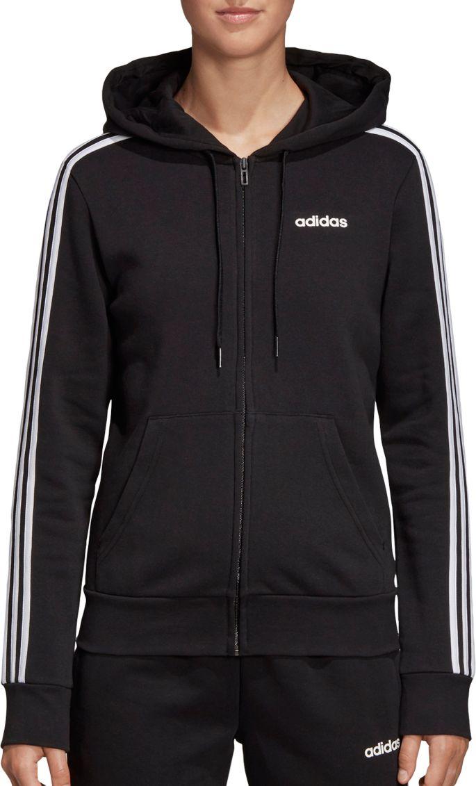 Adidas Essentials Womens Solid Full Zip Hoodie Hooded Sweatshirt Free Post | eBay