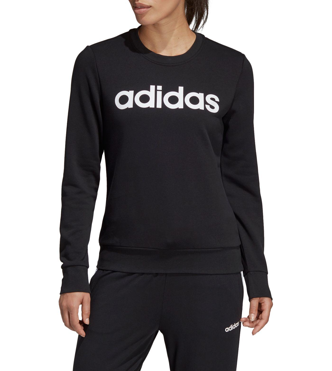 adidas Women's Essentials Linear Crew Neck Sweatshirt