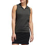 adidas Women's Sweater Knit Sleeveless Golf Polo