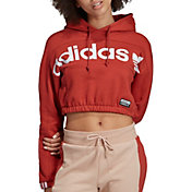 adidas Originals Women's Vocal Cropped Graphic Hoodie