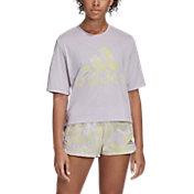 adidas Women's Badge Of Sports Crewneck Short Sleeve Training T-Shirt