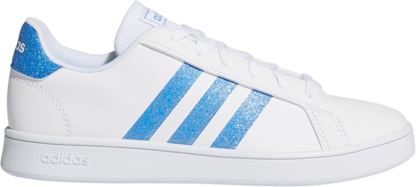 adidas Kids' Grade School Grand Court Sparkle Shoes