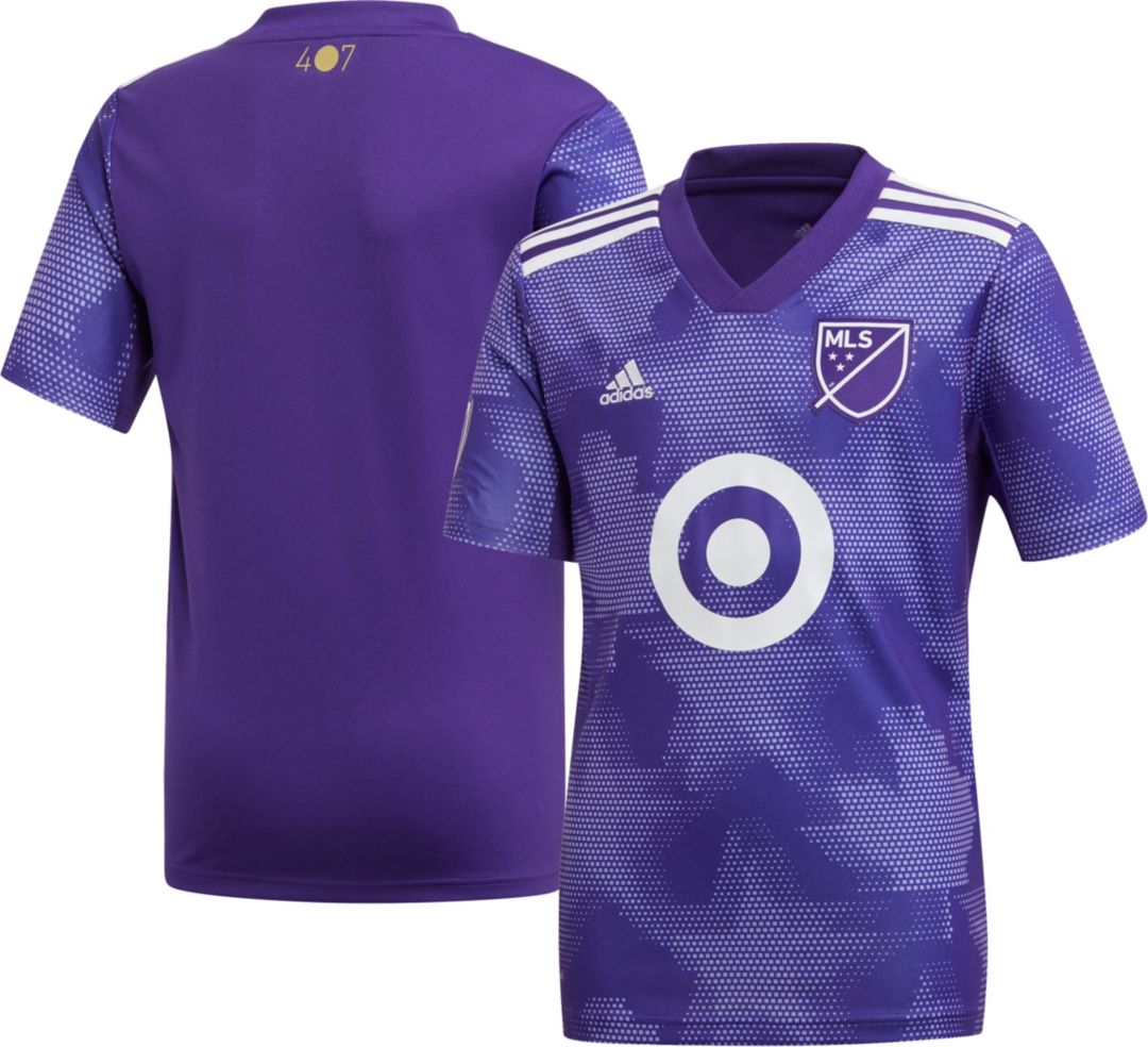 new style 3b5b6 b98a1 adidas Youth 2019 MLS All-Star Game Purple Replica Jersey