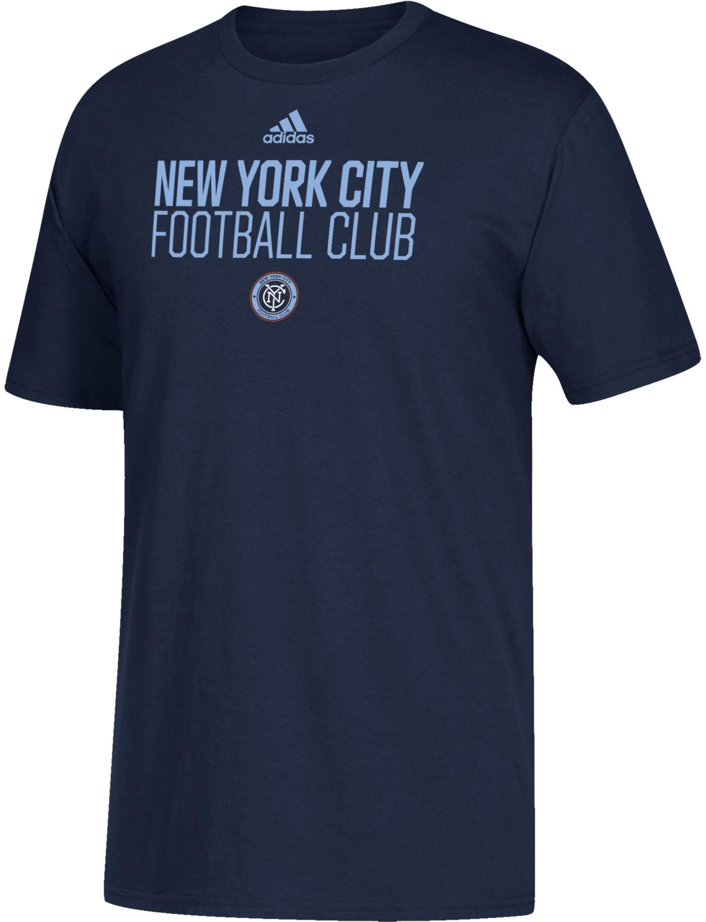 adidas Youth New York City FC Big Logo Navy T-Shirt
