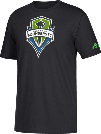 finest selection e23d4 684bb adidas Youth Seattle Sounders Squad Black T-Shirt
