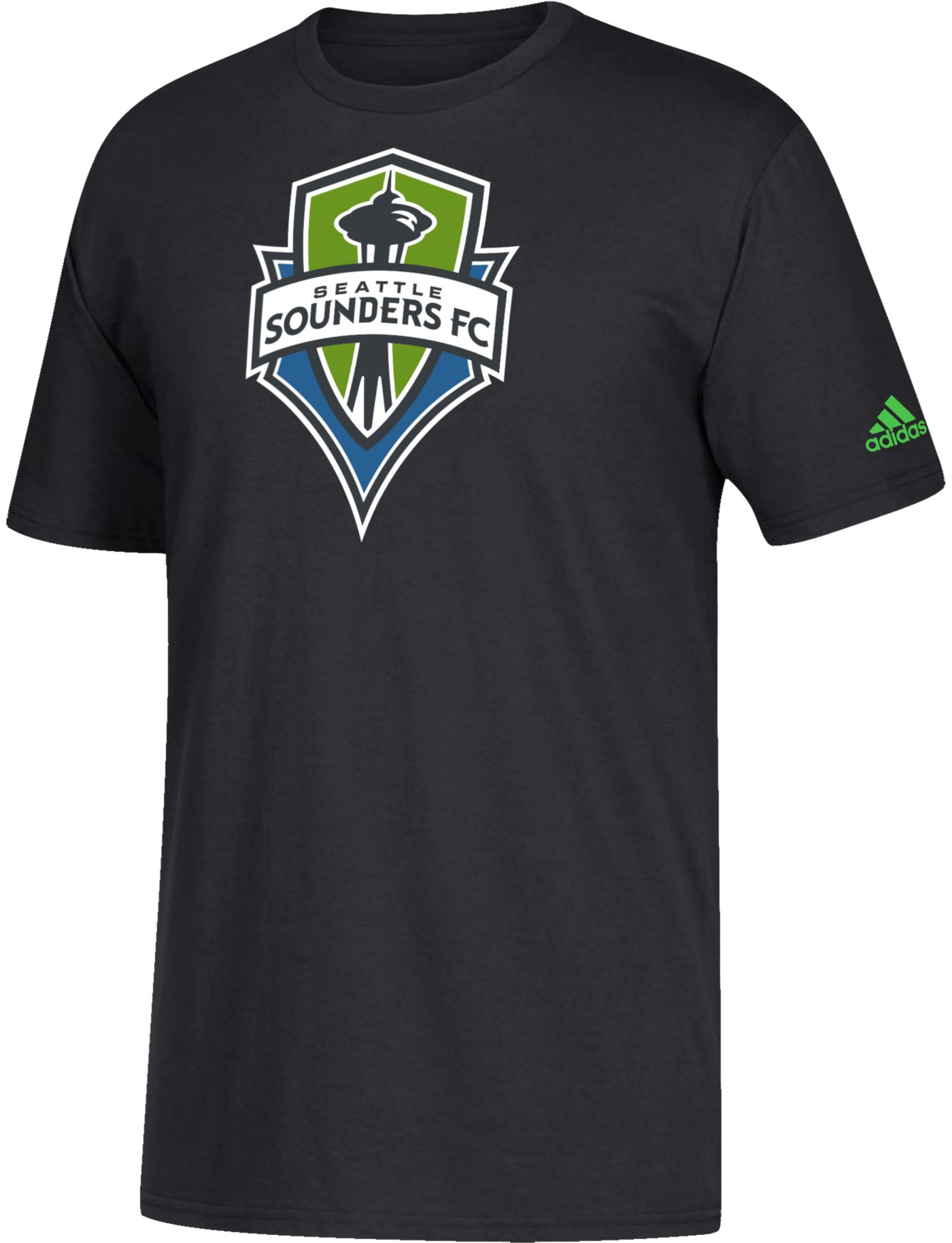 adidas Youth Seattle Sounders Squad Black T-Shirt