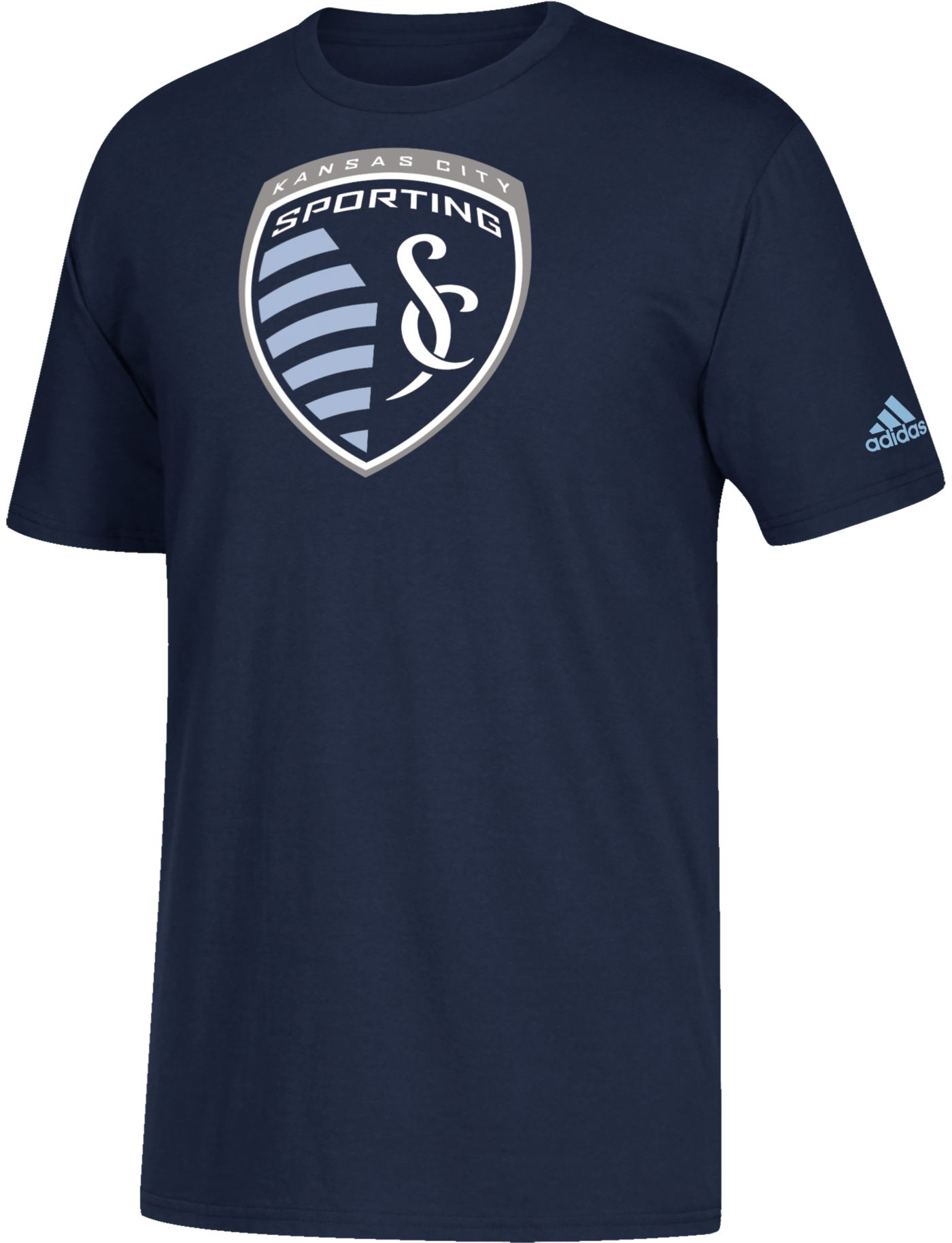 adidas Youth Sporting Kansas City Squad Navy T-Shirt
