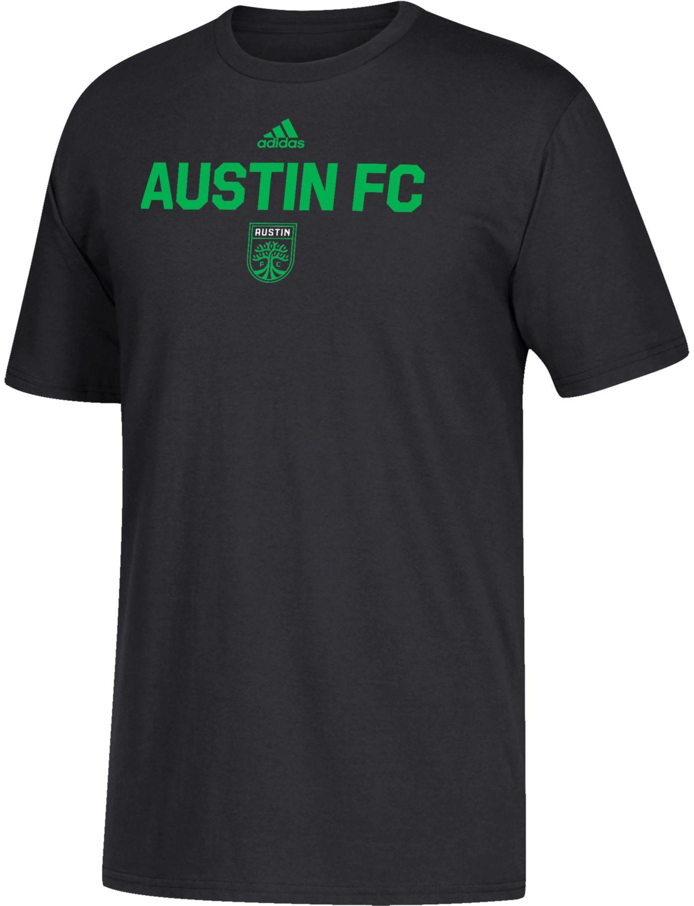 adidas Youth Austin FC Wordmark Black T-Shirt