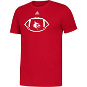 adidas Youth Louisville Cardinals Cardinal Red Locker Football Icon Sideline T-Shirt