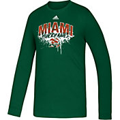 adidas Youth Miami Hurricanes Green Playmaker Amplifier T-Shirt