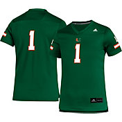 adidas Youth Miami Hurricanes #1 Green Replica Football Jersey