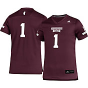 adidas Youth Mississippi State Bulldogs #1 Maroon Replica Football Jersey
