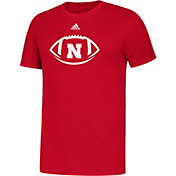 adidas Youth Nebraska Cornhuskers Scarlet Locker Football Icon Sideline T-Shirt