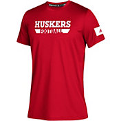 adidas Youth Nebraska Cornhuskers Scarlet Locker Practice Sideline Football T-Shirt