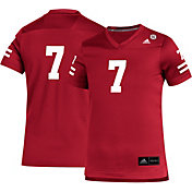 adidas Youth Nebraska Cornhuskers #1 Scarlet Replica Football Jersey