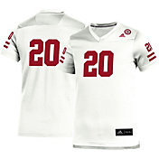 adidas Youth Nebraska Cornhuskers #20 Replica Football White Jersey