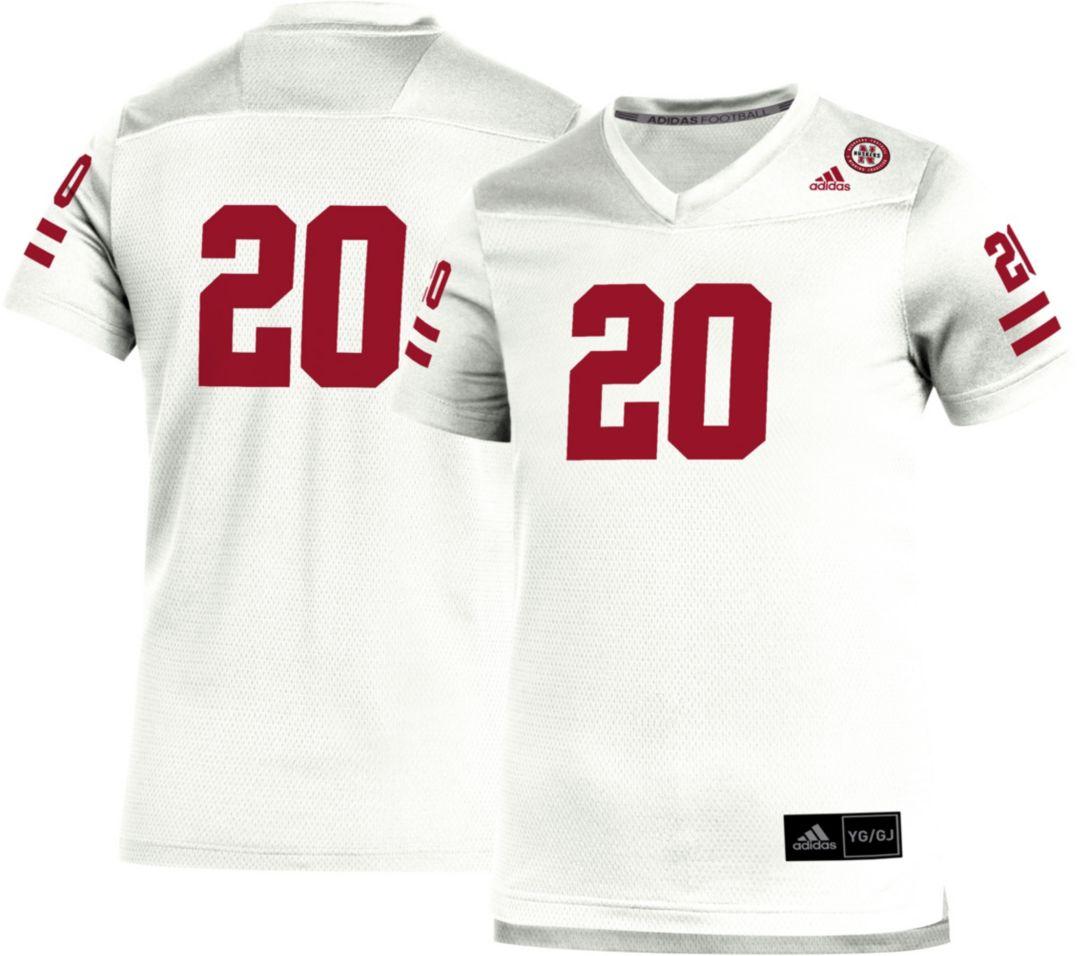competitive price 66738 f0ef4 adidas Youth Nebraska Cornhuskers #20 Replica Football White Jersey