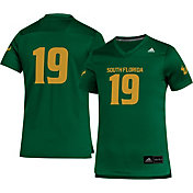 adidas Youth South Florida Bulls #19 Replica Football White Jersey
