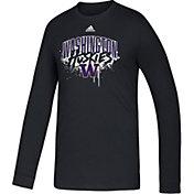 adidas Youth Washington Huskies Playmaker Amplifier Black T-Shirt