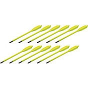 BOLT Crossbows Glow in the Dark Plastic Youth Crossbow Bolt – 12 Pack