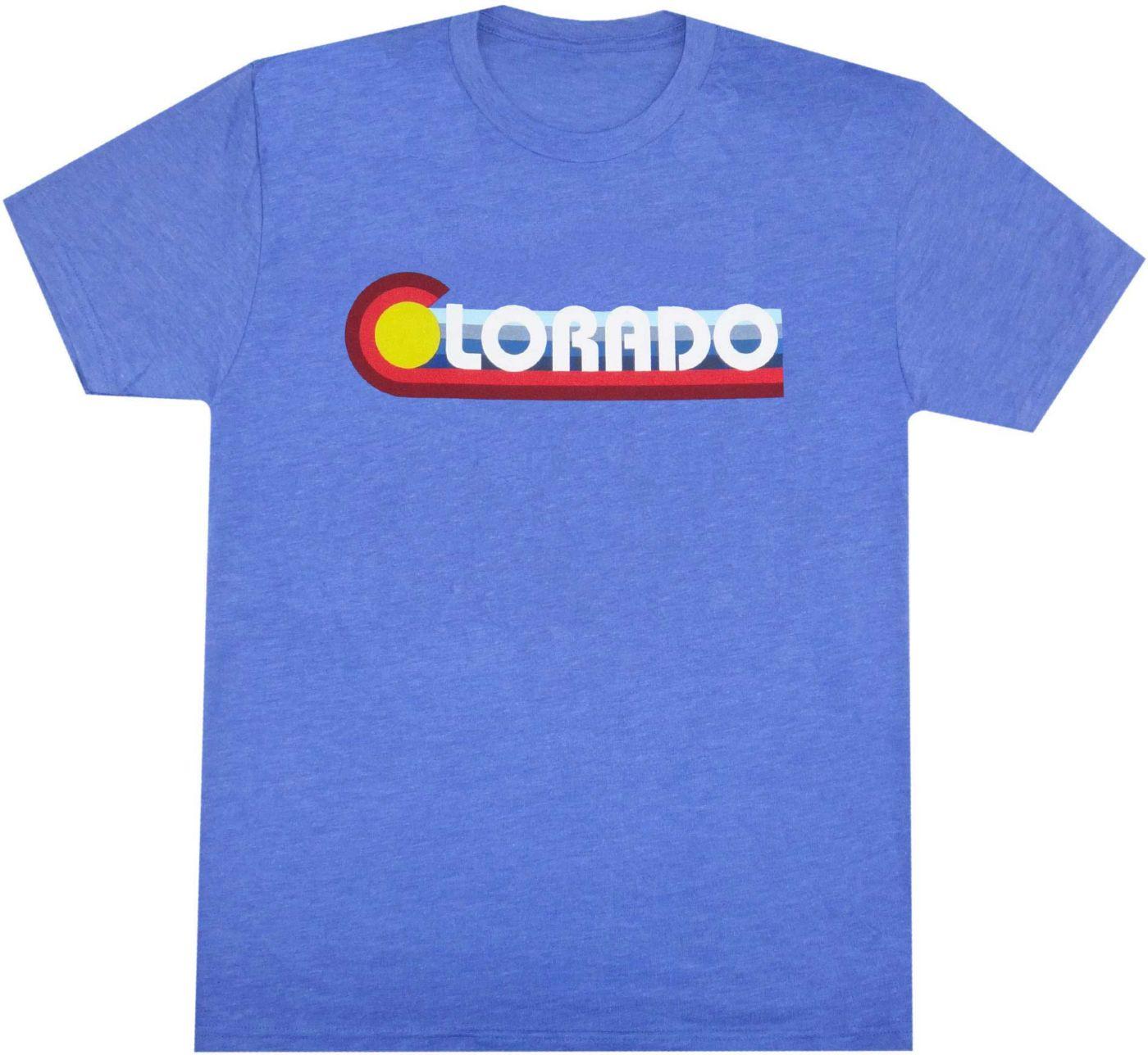 Aksels Men's Colorado Scape Tri-Blend Short Sleeve T-Shirt